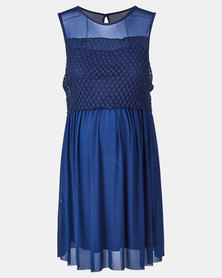 Me-A-Mama Champagne Dress Navy