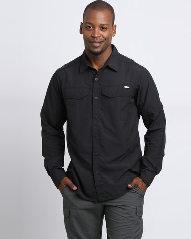 4f9a5668e19 Columbia Silver Ridge Long Sleeve Shirt Black | Zando