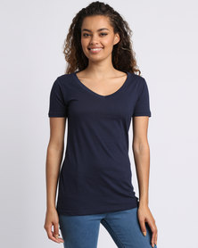 Utopia Basic V-Neck Tee Navy