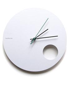 Tydloos.com Hole White Wall Clock White