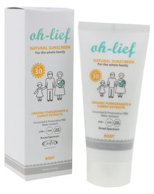 Oh-Lief Natural Products Sunscreen Body SPF 30