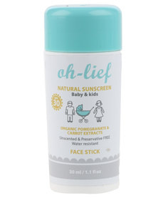 Oh-Lief Natural Products Sunscreen face stick SPF 30