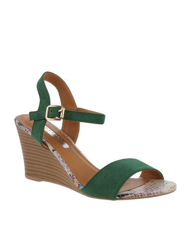 8133092b5e8a Franco Gemelli Pearl Wedge Ankle Strap Sandal Green