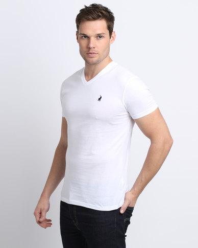 e8528b6f5 Polo Men s V-Neck T-Shirt White