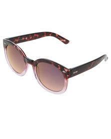Dot Dash Pool Party Tortoise Shell Faded Lense Sunglasses Pink/Brown