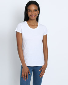 Fruit of the Loom Lady Fit T-Shirt White