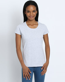 Fruit of the Loom Lady Fit T-Shirt Grey