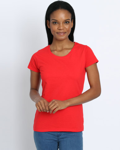 Fruit of the Loom Lady Fit T-Shirt Red