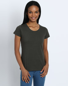 Fruit of the Loom Lady Fit T-Shirt Charcoal