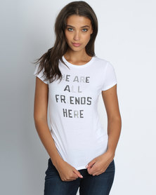 Levi's® All Friends Here Slim Crew Neck Tee White