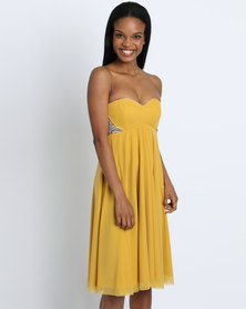 Sober Iris Bustier Dress Gold