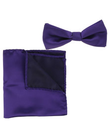 Robert Daniel Plain Bow Tie Purple