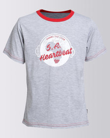 Love SA Unisex Heartbeat Tee Grey