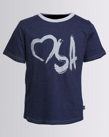 Love SA Unisex Heart SA Logo Tee Blue