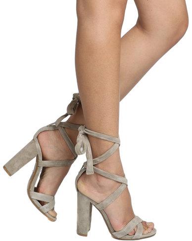 Steve Madden Christey Block Heel Sandal Taupe