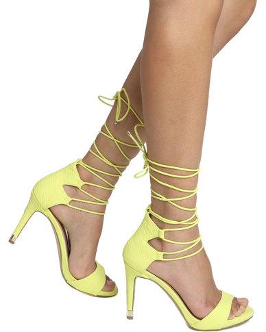 df5e41d1fc90 Call It Spring Atnarko High Heel Ghillie Sandals Yellow