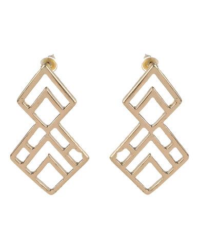 Vikson Geometric Cut Earrings Gold-tone
