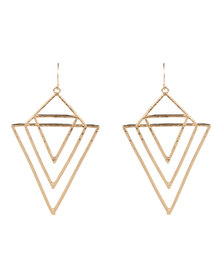 Vikson Geometric Hanging Earrings Gold-tone