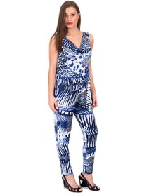Jatine Colleen Jumpsuit Blue Print