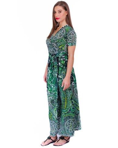 Jatine Toni Maxi Wrap Dress Blue Stainglass