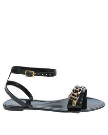 Footwork Footwork Kaya Embellished Slip On Sandal With Ankle Strap Black purchase for sale MnJDkku