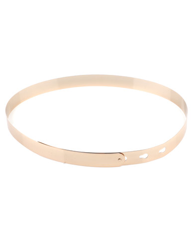 All Heart Ladies Plain Belt Gold-tone