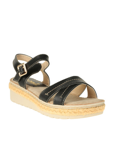 DR Hart DR Hart Deja Wedge Ankle Strap Sandal Black factory outlet cheap online buy cheap best finishline sale online wZtzwn