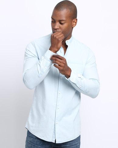 d62e9b85a66 New Look Long Sleeve Ice Bleach Denim Shirt Light Blue