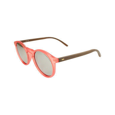 Lentes & Marcos San Bernado UV400 & Polarised Pink/ Silver Round Sunglasses