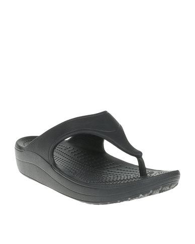 57cf87be522 Crocs Sloane Platform Flip Flop W Black