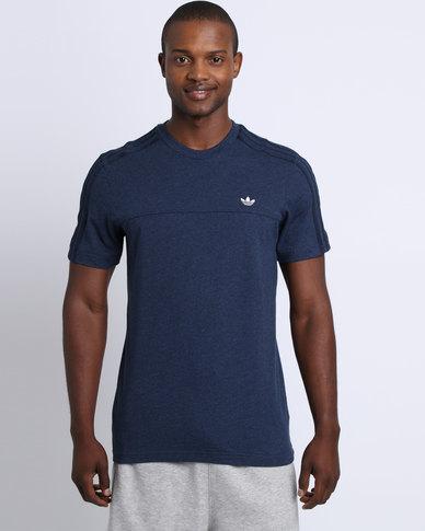 adidas trefoil t shirt navy