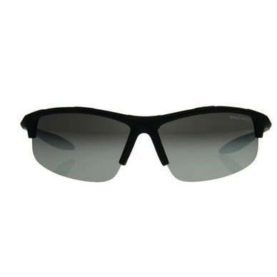 Lentes & Marcos Ruben Dario UV400 Black Wrap-Around Sunglasses
