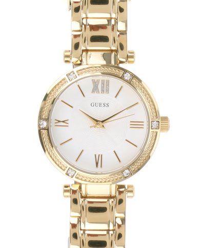f7a535f7985e Guess Ladies Park Ave South Yellow Watch with Metal Strap Gold-tone ...