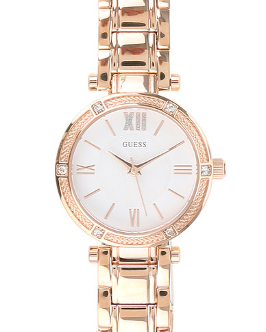 b533467c1068 Guess Ladies Park Ave South Watch with Metal Strap Rose Gold-tone ...