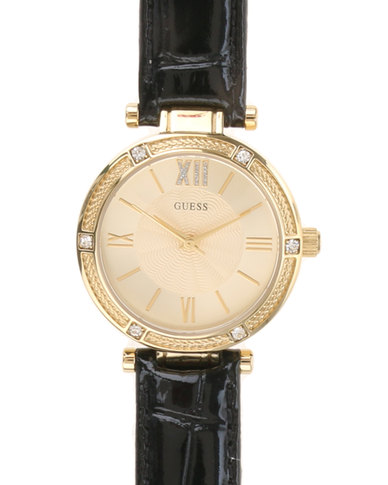 2be520f6273f Guess Ladies Park Ave South Watch with Strap Black