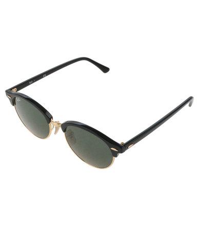 5b9a5f29f2b4ad Ray-Ban Clubround Sunglasses Black