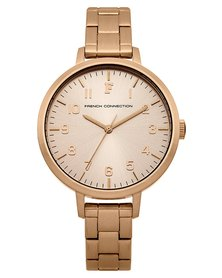 French Connection Watch Rose Gold