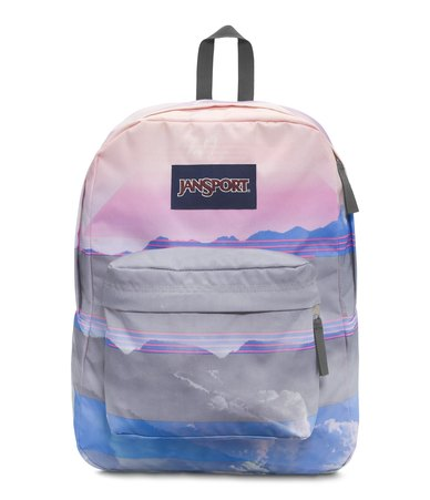 c4337f7bb1f7 JanSport High Stakes Backpack Multi Linear Skies Blue Pink