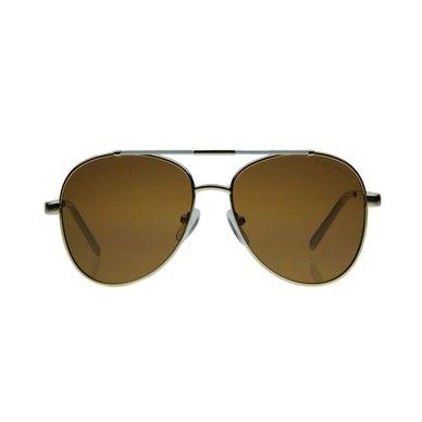 Lentes & Marcos Acacias Polarised Gold Aviator Sunglasses