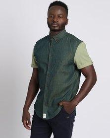 PEG The General Short Sleeve Button Up Shirt Green