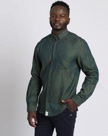PEG The General Long Sleeve Button Up Shirt Green