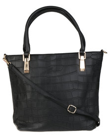 Joy Collectables Ladies Quilted Shopper Bag Black