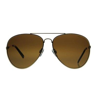 Lentes & Marcos San Cristobal Polarised Gold Aviator Sunglasses