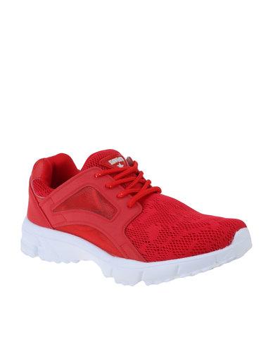b5970d3f60a6 Soviet Colby Low Cut Mesh PU Upper Sneaker Red