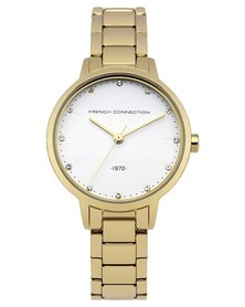 French Connection Watch Classic Gold