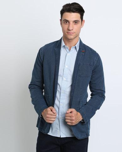 Polo casual blazer blue zando for Polo shirt with sport coat