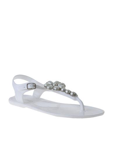 4b5460148 Miss Black Nyx Embellished Slingback Toe Thong Sandal White