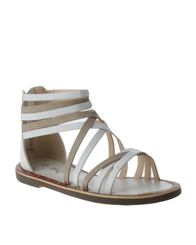 Bronx Woman Christia Flat Gladiator Sandal Grey