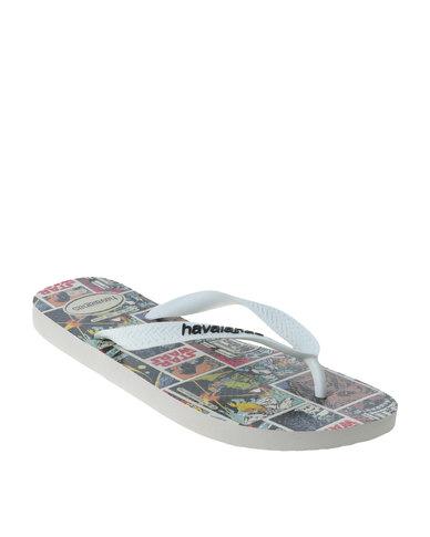 ffe73aa0d4565a Havaianas Star Wars Flip Flops White