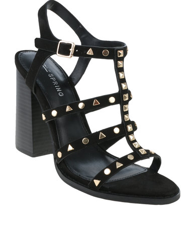 96894a7003ff Call It Spring Perren Chunky Studded Heeled Gladiator Sandal Black ...